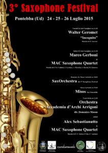 3° Pontebba Saxophone Festival – 2015
