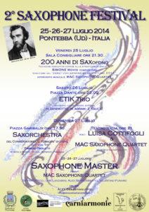 2° Pontebba Saxophone Festival – 2014
