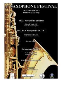 1° Pontebba Saxophone Festival – 2013